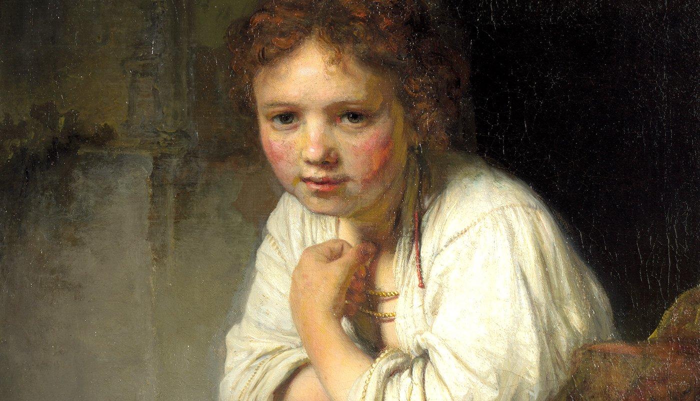 """Muchacha en la ventana"", la Mona Lisa de Rembrandt, en Bilbao"
