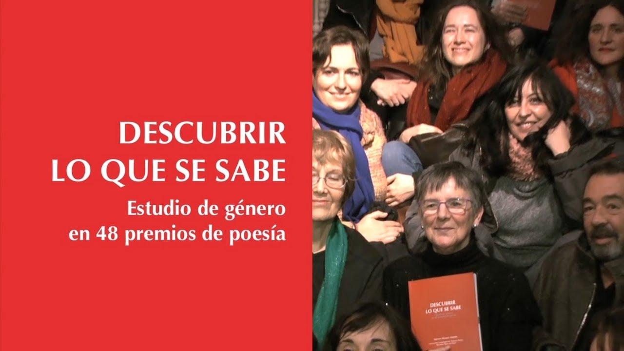 """Nieves Álvarez Martín: """"Descubrir lo que se sabe. Estudio de género en 48 premios de poesía"""""""